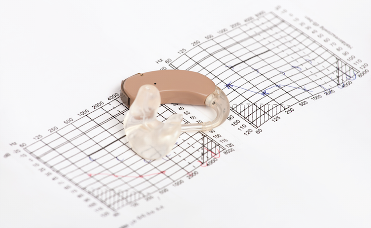 hearing aid and chart