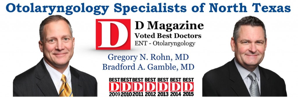 Best ENT Surgeons, D Magazine Best Doctors